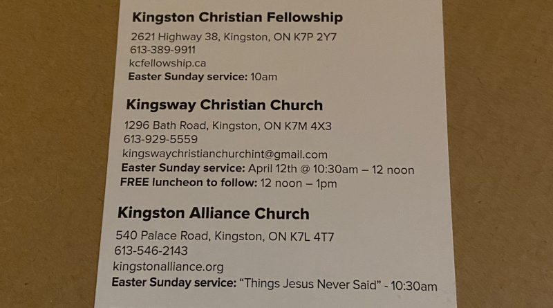 Easter church services flyer circulated in error