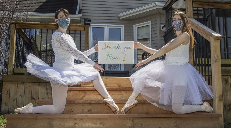 Street Ballerina Performance Art Project says thank you to frontline workers