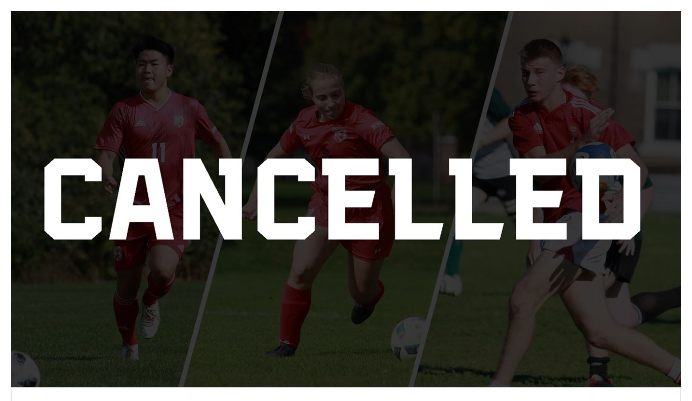 sports cancelled