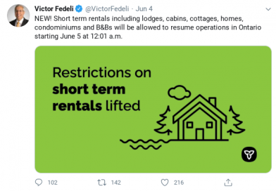 North Frontenac Township responds as short-term rentals resume