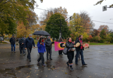 Kingston residents march in solidarity with Mi'kmaq fishers