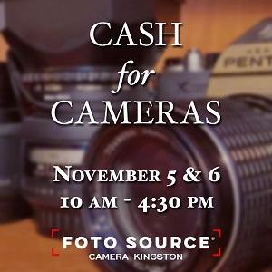 Camera Kingston - Cash for Cameras event Nov 5 and 6