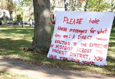 Community members paint anti-misogyny messages in Victoria Park